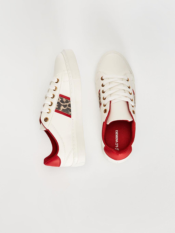 Diğer malzeme (poliüretan)  %0 Tekstil malzemeleri (%100 poliester) Düz Sneaker 4 cm Yuvarlak Burun Kısa Kadın Günlük Şık Spor Ayakkabı