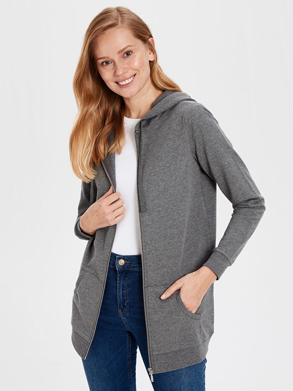 %50 Pamuk %50 Polyester Orta Kalınlık %100 Pamuk Uzun Kol İnce Sweatshirt Kumaşı Sweatshirt Düz Kapüşonlu Sweatshirt