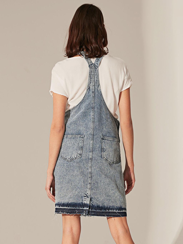 Kadın Jean Hamile Salopet Elbise