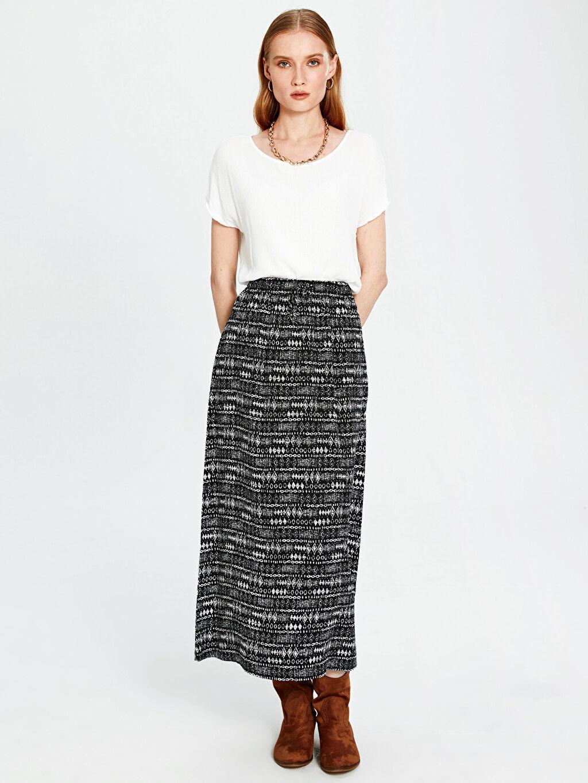 Siyah Pantolon Etek 0S5095Z8 LC Waikiki