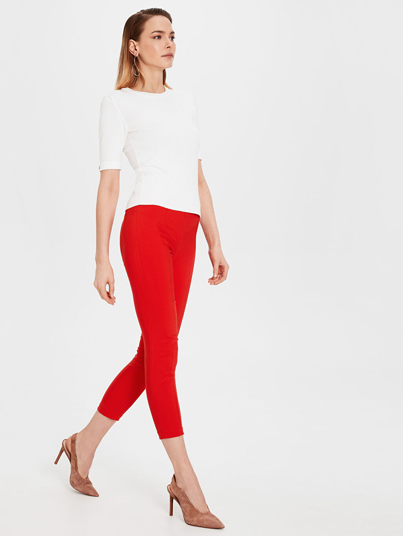Kırmızı Normal Bel Esnek Skinny Pantolon 0S5305Z8 LC Waikiki