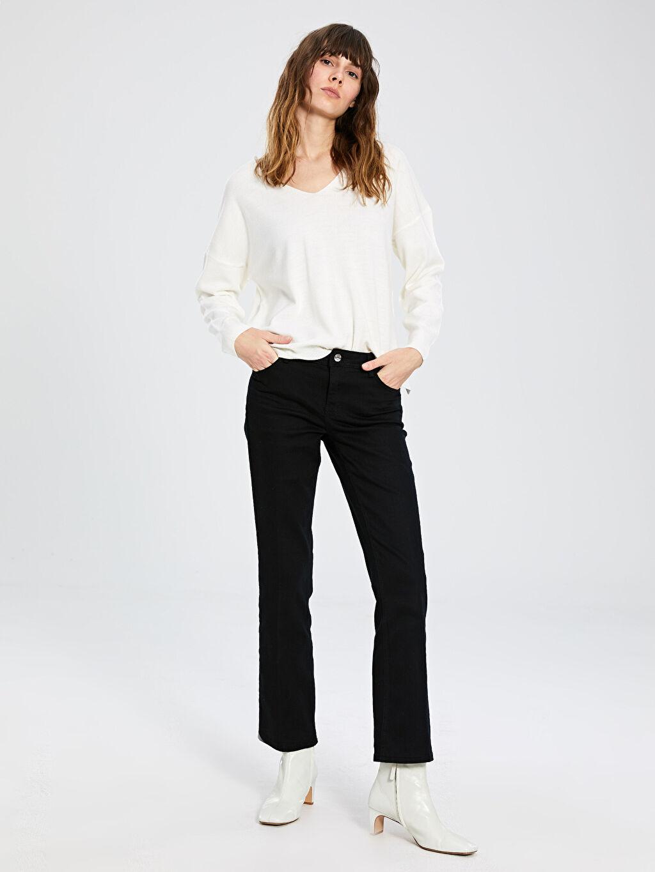 Siyah Normal Bel Jean Pantolon 0S7597Z8 LC Waikiki