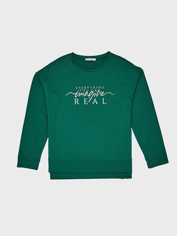 %62 Polyester %3 Elastan %35 Viskoz Sweatshirt