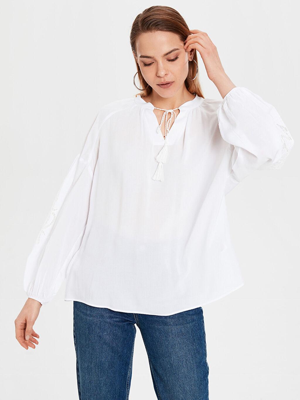 Beyaz Bluz 0S9277Z8 LC Waikiki