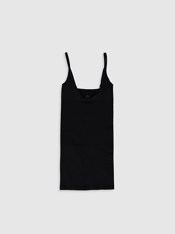 Siyah Dikişsiz Elbise Korse 0S9573Z8 LC Waikiki