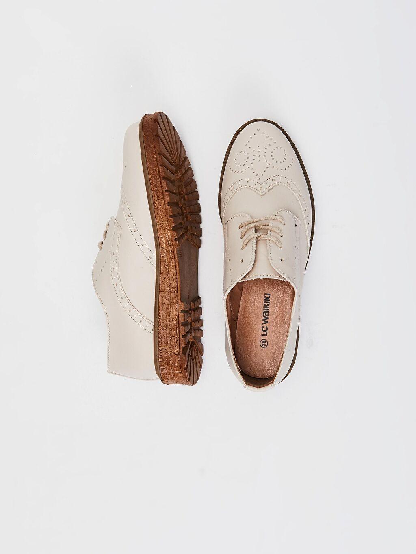 Diğer malzeme (poliüretan) Diğer malzeme (poliüretan) Diğer Standart Oval Burun Klasik Ayakkabı 4 cm Kadın Bağcıklı Klasik Ayakkabı