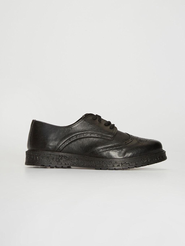 Siyah Kadın Bağcıklı Klasik Ayakkabı 0SG550Z8 LC Waikiki