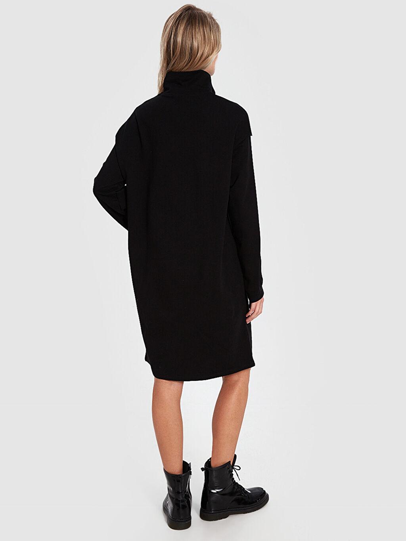 Kadın Aile Koleksiyonu Şerit Detaylı Fermuarlı Elbise