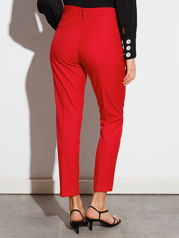 Kadın Bilek Boy Cigarette Esnek Kumaş Pantolon
