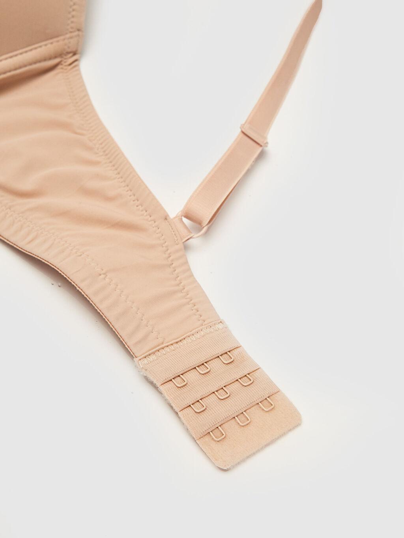 %85 Poliamid %15 Elastan %100 Polyester Sütyen Dolgusuz Mikrofiber Balkon Sütyen Balenli Standart T-shirt Sütyen D/E Kup