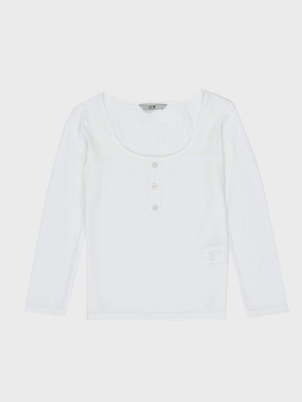 %45 Polyester %55 Viskoz İnce Standart Tişört Diğer Kısa Kol Düz Standart Ribana Bluzan Düz Kısa Kollu Tişört