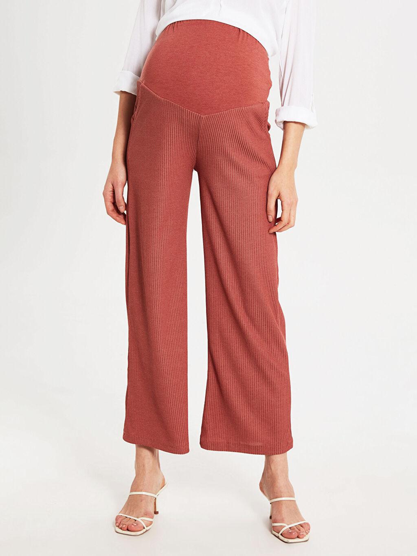 %80 Polyester %20 Viskoz Hamile Bol Pantolon