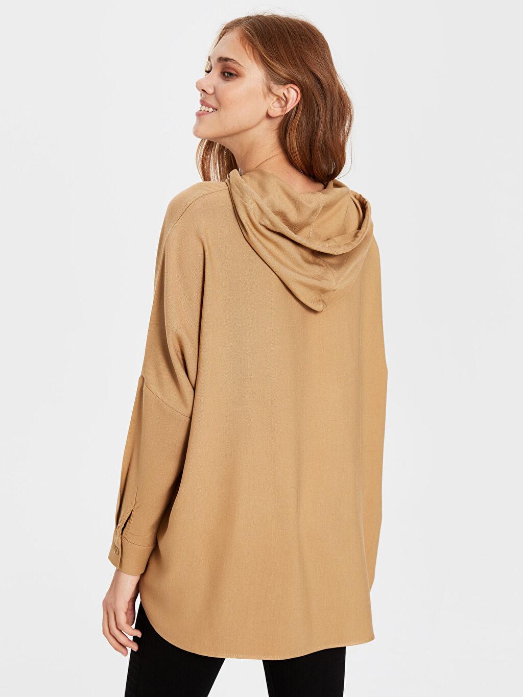 Kadın Kapüşonlu Viskon Gömlek