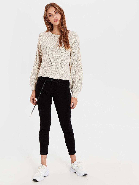 %98 Pamuk %2 Elastan Normal Bel Dar Jean Standart Kalın Normal Bel Dar Jean Pantolon