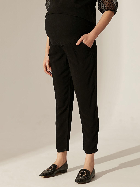 Siyah Hamile Havuç Pantolon