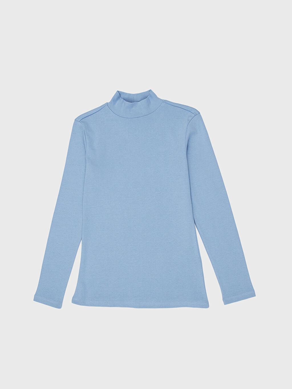 %100 Pamuk Yarım Balıkçı Yaka Pamuklu Tişört