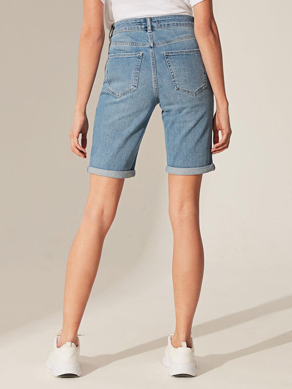 Kadın Normal Bel Jean Şort