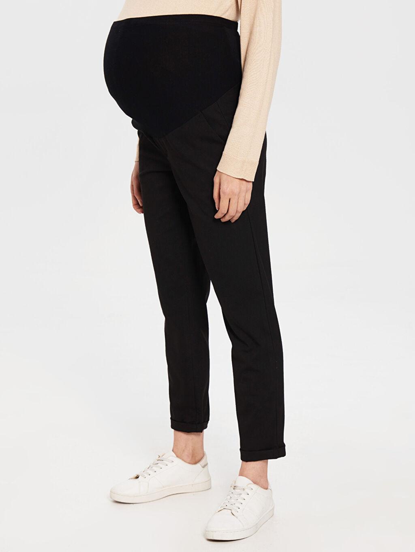 %65 Polyester %3 Elastan %32 Viskon Hamile Bilek Boy Pantolon