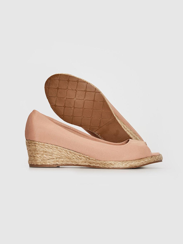 Kadın Kadın Hasır Dolgu Topuk Sandalet