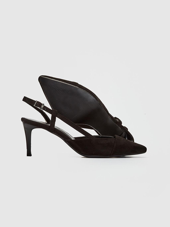 Kadın Kadın Süet Topuklu Sandalet