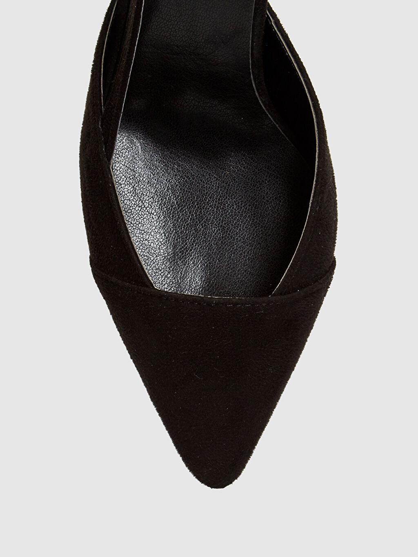 LC Waikiki Siyah Kadın Süet Topuklu Sandalet