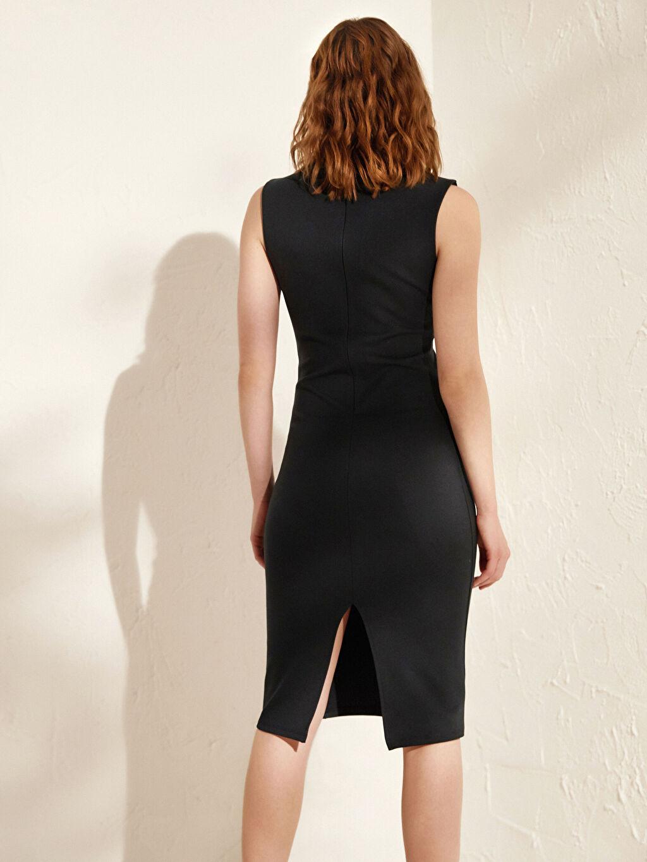 Kadın İncelten Etkili Esnek Kalem Elbise