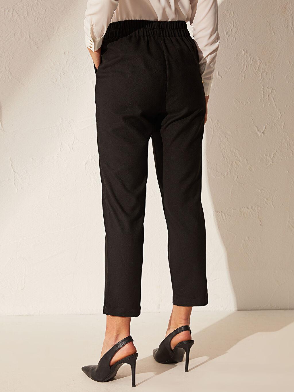 %67 Polyester %30 Viskoz %3 Elastan Bilek Boy Havuç Pantolon