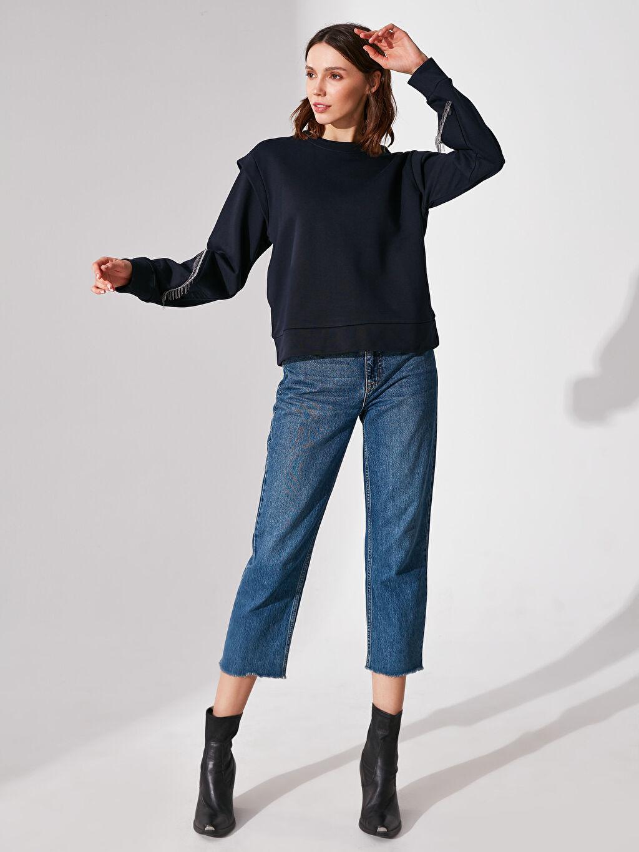 Sweatshirt Re-SIS Omuz Detaylı Kolları Püsküllü Sweatshirt