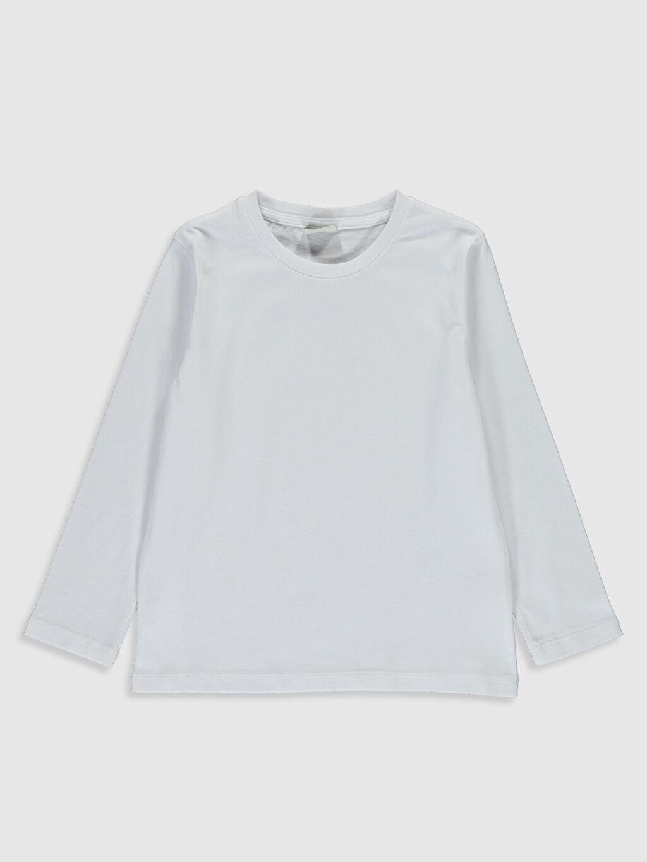 Beyaz Erkek Çocuk Pamuklu Basic Tişört 0S0451Z4 LC Waikiki