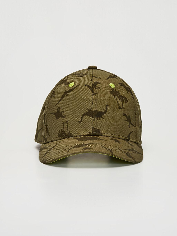 %100 Pamuk Kep Şapka %100 Pamuk Dinazor Baskılı Şapka