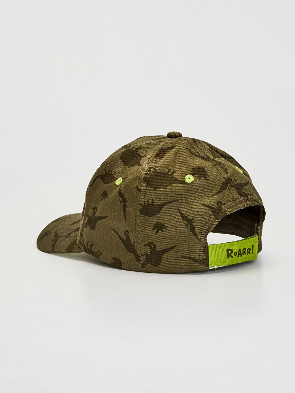 Erkek Çocuk Dinazor Baskılı Şapka