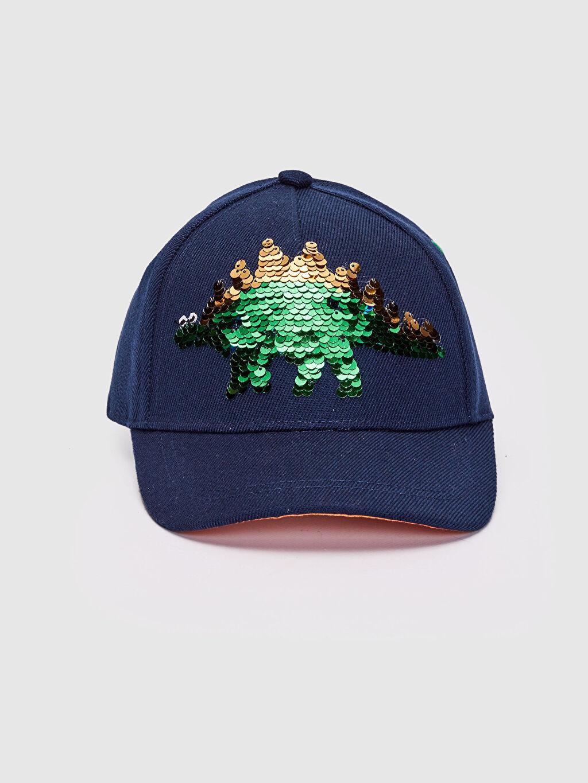 %100 Polyester Kep Şapka Erkek Çocuk Çift Yönlü Payetli Şapka