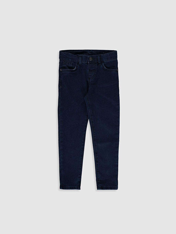 %76 Pamuk %21 Polyester %3 Elastan Orta Kalınlık Düz Astarsız Beş Cep Skinny Jean Aksesuarsız Erkek Çocuk Jean Pantolon