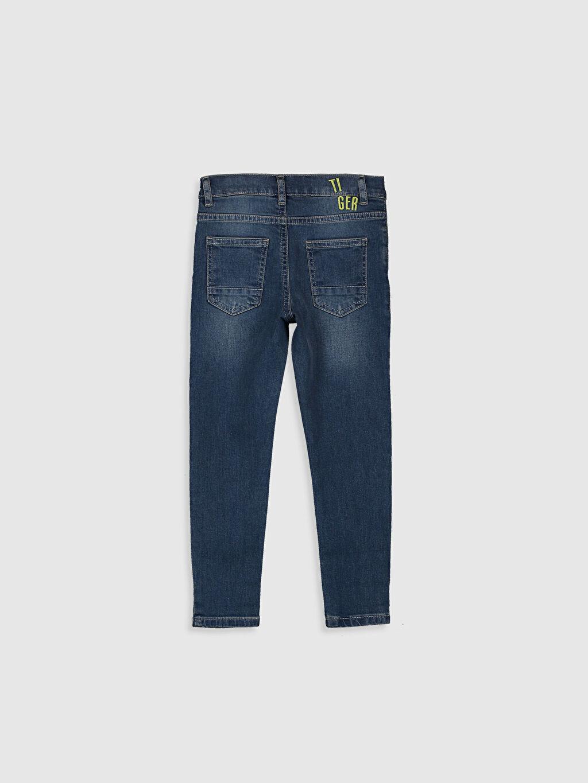 %99 Pamuk %1 Elastan Normal Bel Astarsız Dar Beş Cep Jean Aksesuarsız Orta Kalınlık Düz Erkek Çocuk Skinny Jean Pantolon