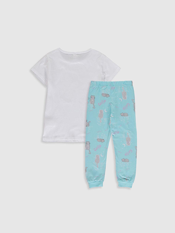 %100 Pamuk İnce Kısa Kol %100 Pamuk Standart Penye Baskılı Pijama Takım Kız Çocuk Baskılı Pamuklu Pijama Takımı