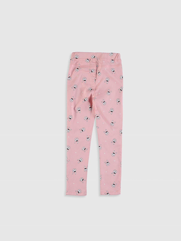 %67 Pamuk %29 Polyester %4 Elastan Orta Kalınlık Standart Normal Bel Pantolon Standart Düz Gabardin Kız Çocuk Desenli Skinny Pantolon
