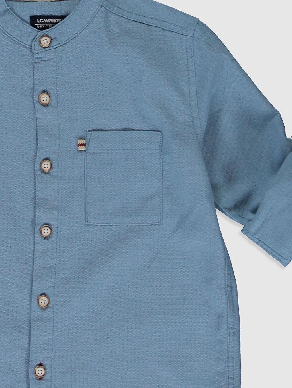 Erkek Çocuk Erkek Çocuk Pamuklu Uzun Kollu Gömlek