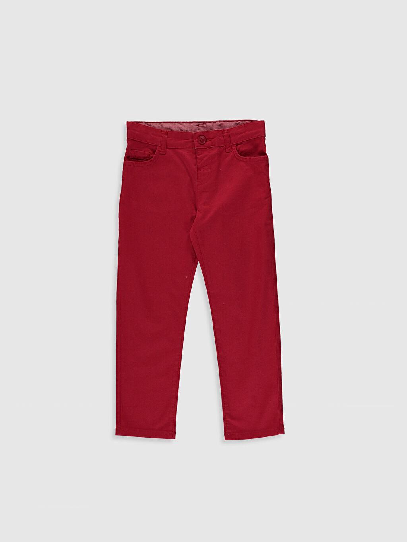 Kırmızı Erkek Çocuk Slim Gabardin Pantolon 0S1607Z4 LC Waikiki