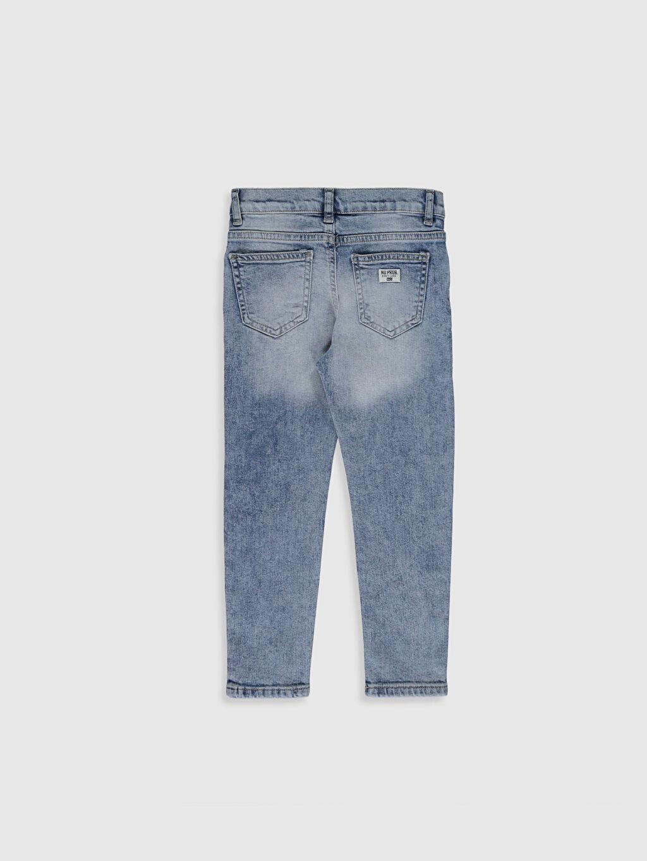 %99 Pamuk %1 Elastan Orta Kalınlık Düz Aksesuarsız Normal Bel Astarsız Dar Jean Erkek Çocuk Skinny Jean Pantolon