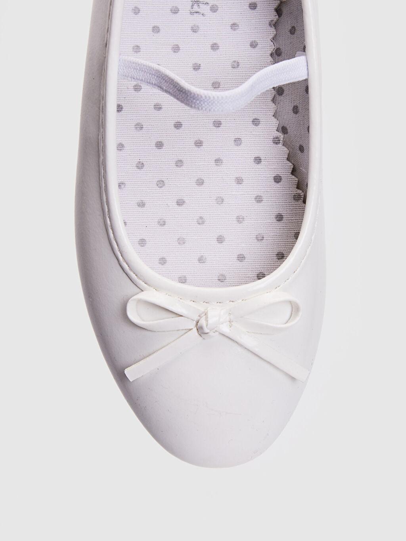 Beyaz Kız Çocuk 25-30 Numara Babet Ayakkabı