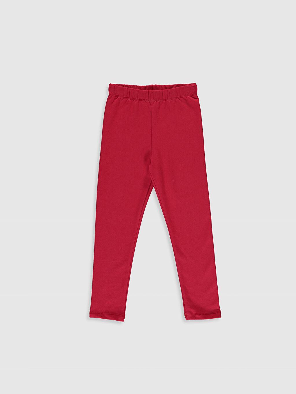 Kırmızı Kız Çocuk Pamuklu Uzun Tayt 0S2548Z4 LC Waikiki