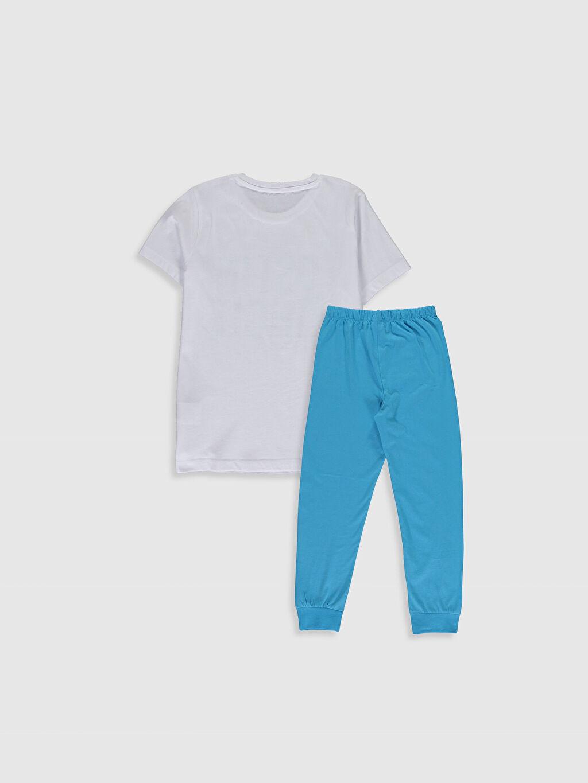 %100 Pamuk İnce Kısa Kol Standart Pijama Takım Günlük Penye %100 Pamuk Erkek Çocuk Baskılı Pamuklu Pijama Takımı