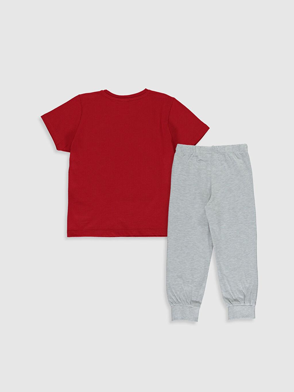 %70 Pamuk %30 Polyester İnce Kısa Kol Standart Pijama Takım Günlük Penye Erkek Çocuk Transformers Baskılı Pijama Takımı