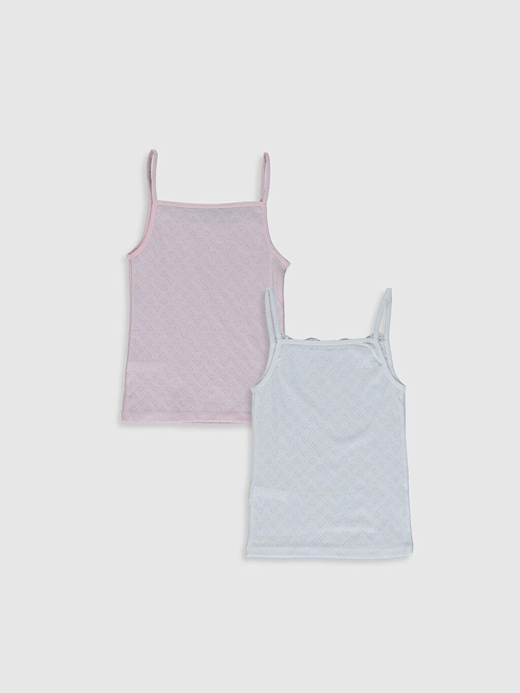 %100 Pamuk %100 Pamuk Askılı İç Giyim Atlet Standart U Yaka Kız Çocuk Pamuklu Atlet 2'li