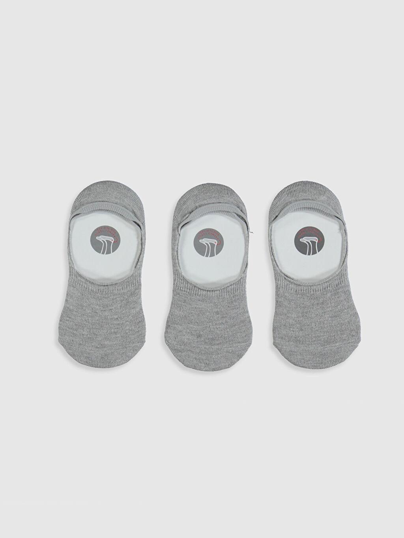 %57 Pamuk %20 Poliester %20 Poliamid %3 Elastane Patik Çorap Düz Dikişli Erkek Çocuk Babet Çorap 3'lü
