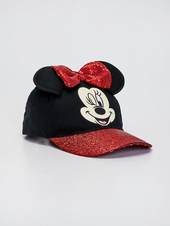 Siyah Kız Çocuk Minnie Mouse Lisanslı Simli Şapka 0S2706Z4 LC Waikiki