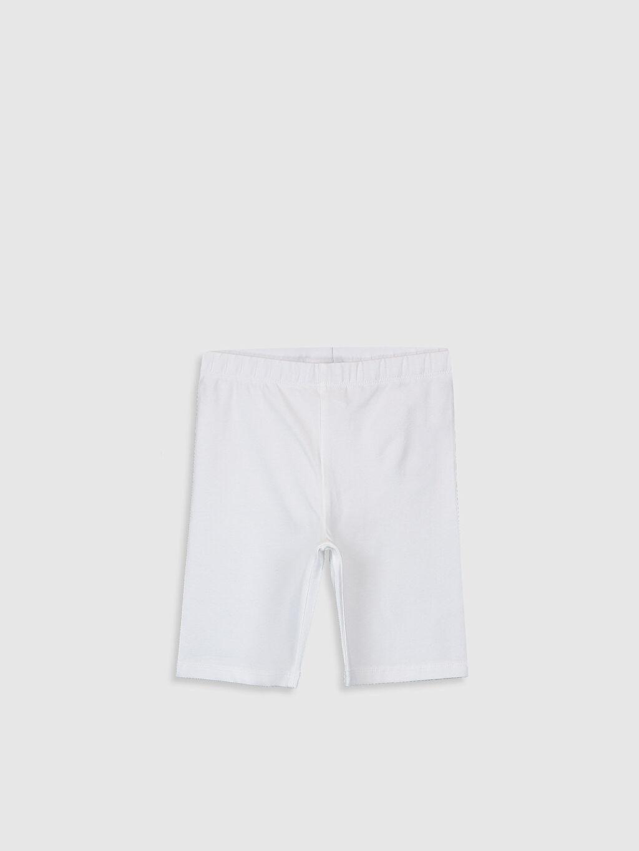 Beyaz Kız Çocuk Pamuklu Basic Tayt 0S2726Z4 LC Waikiki