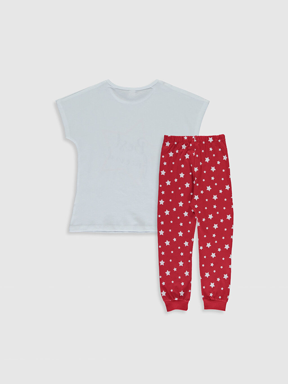 %100 Pamuk İnce Kısa Kol %100 Pamuk Standart Baskılı Pijama Takım Süprem Kız Çocuk Baskılı Pamuklu Pijama Takımı