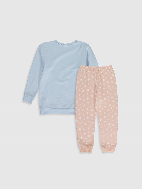 %100 Pamuk Orta Kalınlık Uzun Kol %100 Pamuk Standart Pijama Takım İnce Sweatshirt Kumaşı Kız Çocuk Baskılı Pamuklu Pijama Takımı