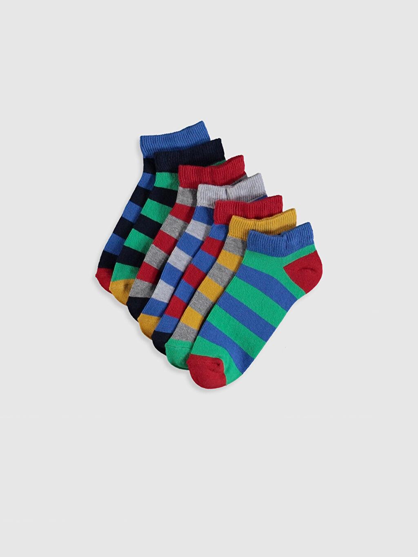Çok Renkli Erkek Çocuk Patik Çorap 7'li 0S4059Z4 LC Waikiki